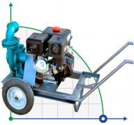 Бензиновая мотопомпа высокого давления мощностью 13 л.с. - электрический стартер