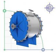 Спиральный теплообменник 20м2 сталь 304