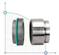 Механическое уплотнение (сальник) R-HJ92N-40/SIC/SIC/VITON/316