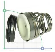 Торцевое уплотнение (сальник) BS155-19/EPDM/SS304