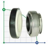 Механическое уплотнение (сальник) BS301-14L/CAR/CER/NBR/304