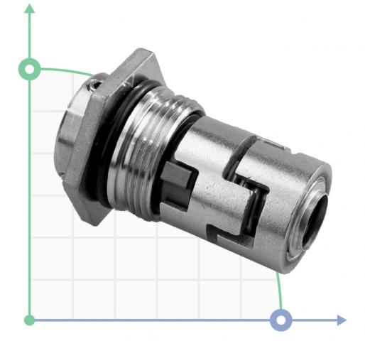 Механическое уплотнение (сальник) TG-706H-22 SIC/SIC/EPDM/304
