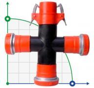 125 мм / 75 мм Cross TE перекрестный коннектор