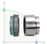 Механическое уплотнение (сальник) R-HJ92N-60/SIC/SIC/VITON/316