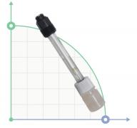 Резьбовой стеклянный электрод pH, 6 бар - 60 С
